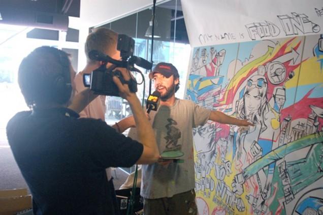 Jim Mahfood with Ninja T