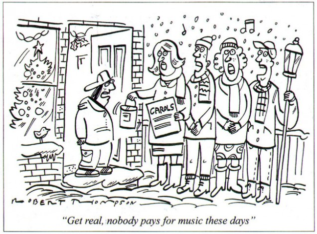 Nobody pays for music
