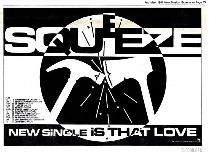 Squeeze Is That love ad NME '81