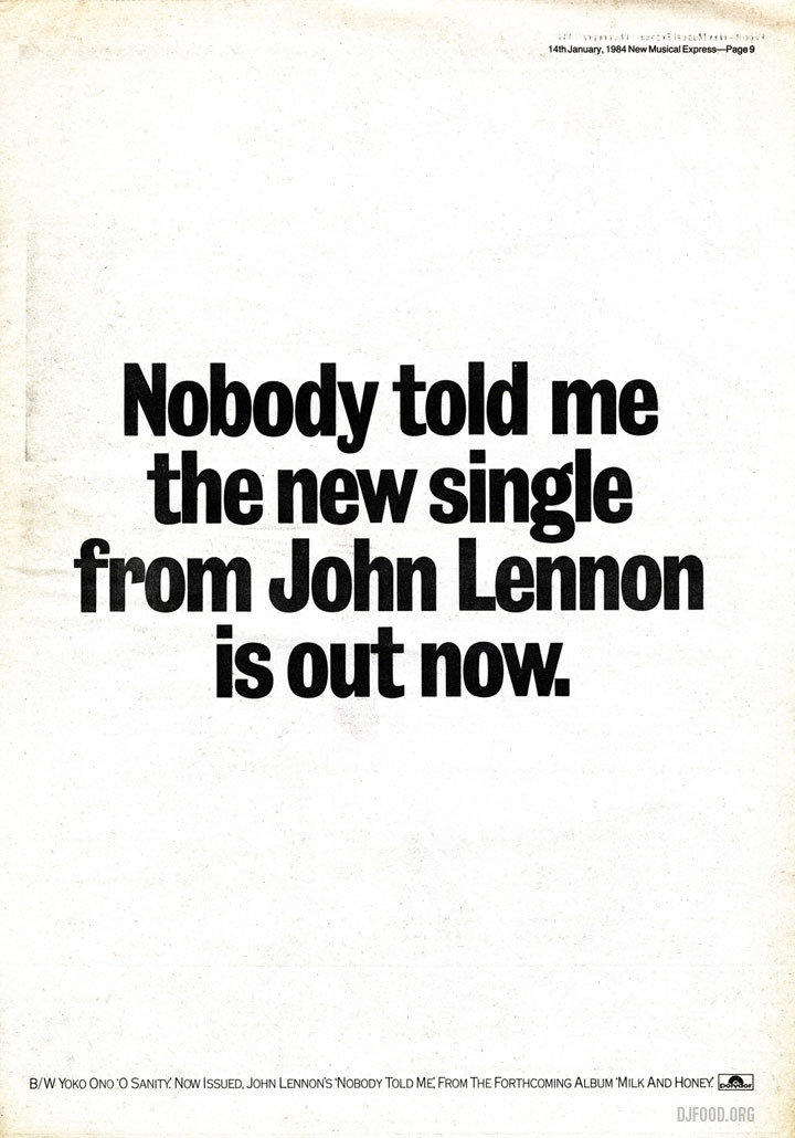 JL single ad NME 14-01-84web