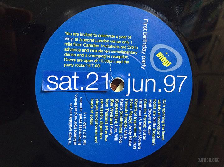 Vinyl 1st Birthday 45 label