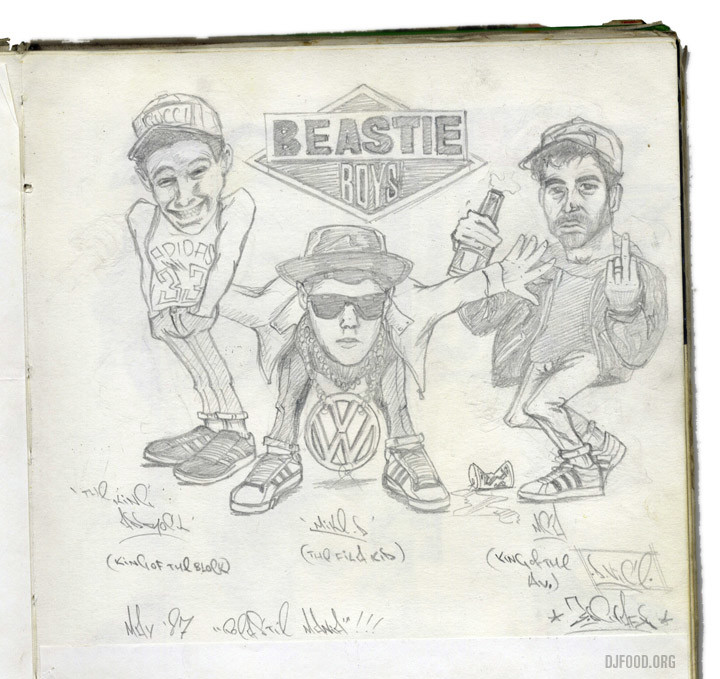 BeastieBoysKevinFoakesdrawing1987web