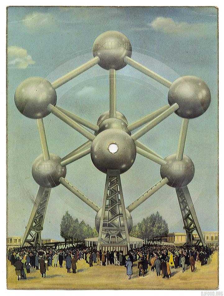 Atomium postcard 2