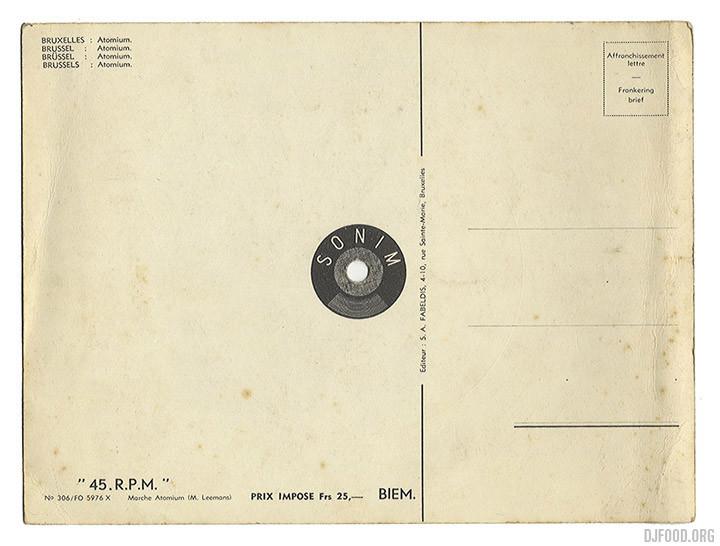 Atomium postcardback