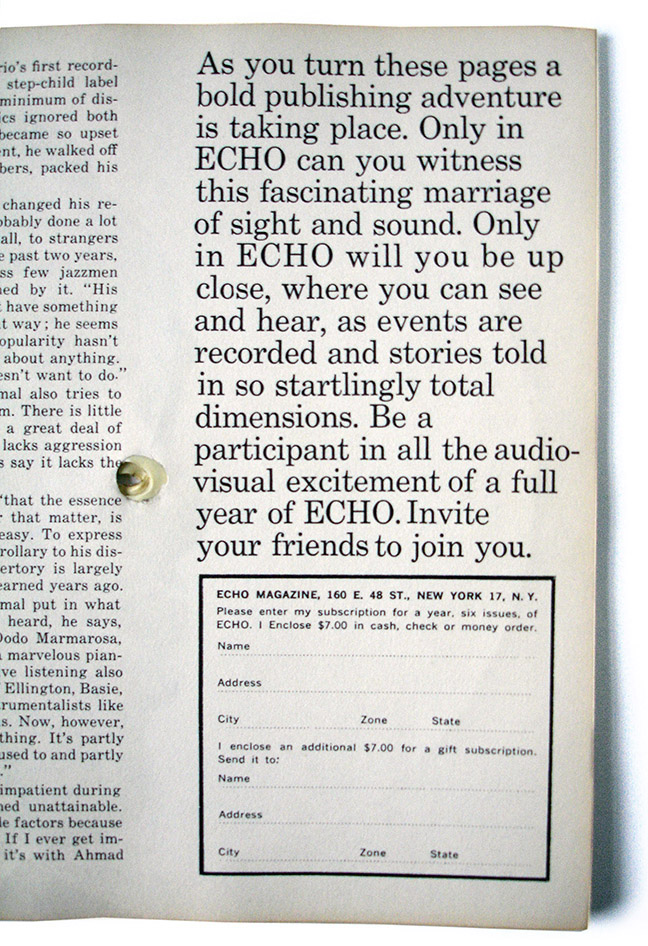 Echo #2 subscribe2