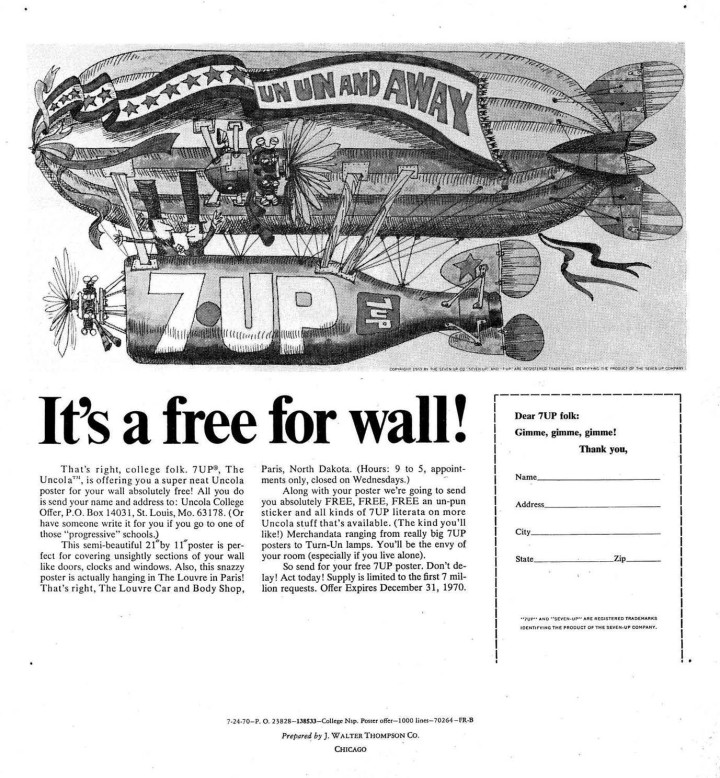 7UP free poster offer