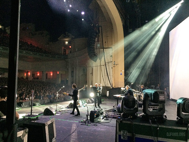Brixton side of stage