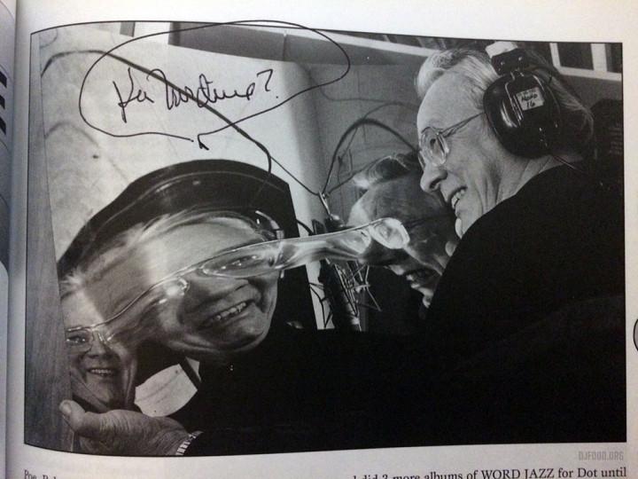 Ken Nordine autograph