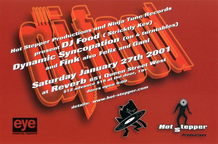 DJ Food Reverb flyer 2001